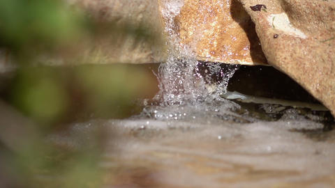 Video of waterfall in real slow motion Footage