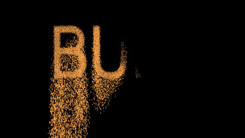 constellation of a BULL appears from the sand, then crumbles. Alpha channel Animation