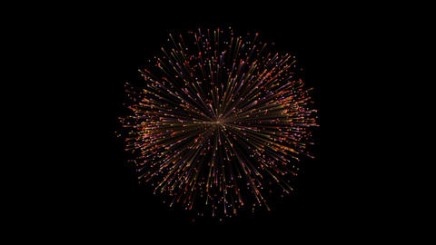 Firework flower explode particles red After Effects Template
