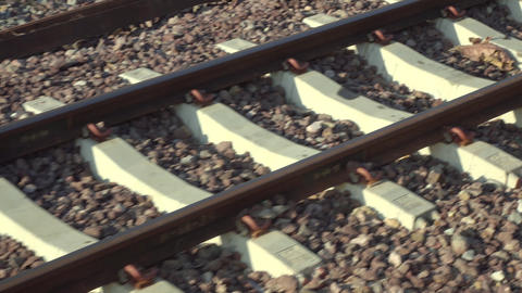 railroad view, Train moving fast on railway Footage