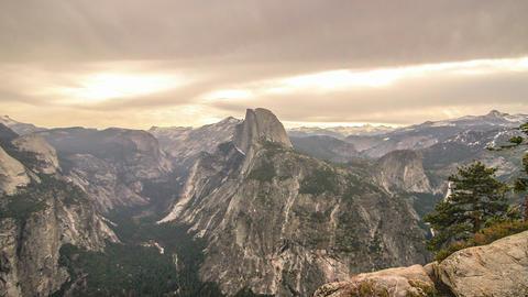 Hyperlapse Half Dome Yosemite shot 39 Footage