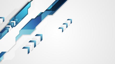 Hi-tech corporate arrows video animation Animation