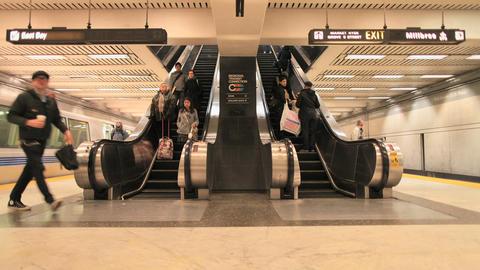 Bart escalator Footage