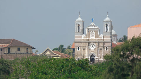 Saint Mary's Catholic Cathedral in Galle. Sri Lanka. Video 4k UltraHD Footage