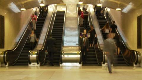 Escalator traffic in nyc station Footage