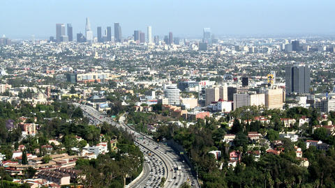 Los angeles downtown city time lapse Footage