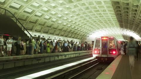 Metro arrival timelapse Footage