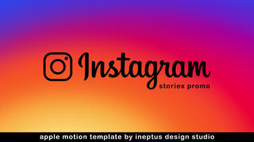 Instagram Stories Promo แม่แบบ Apple Motion