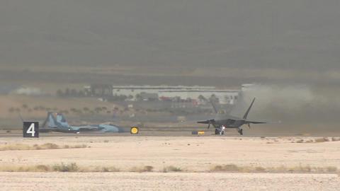 F 22 raptor at red flag Live Action