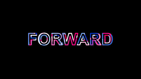 Letters are collected in text FORWARD, then scattered into strips. Bright Animation