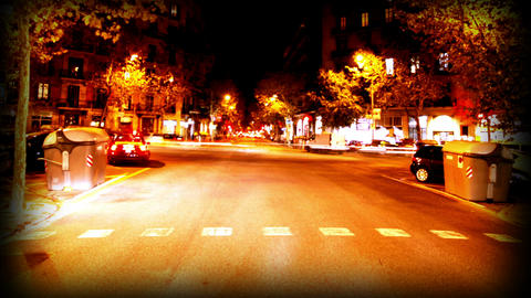 Vignette barcelona night drive Footage