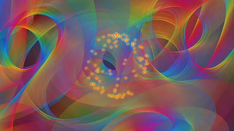 Psychedelic rainbow background, multicolored waves flying trough space, geyser CG動画素材