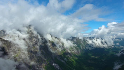Aerial footage beautiful nature norway Live Action