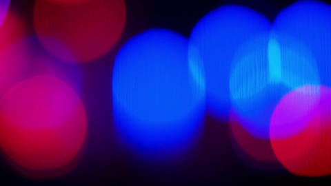 Colour blurred bokeh neon lights GIF