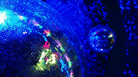 Disco ball in a nightclub 画像