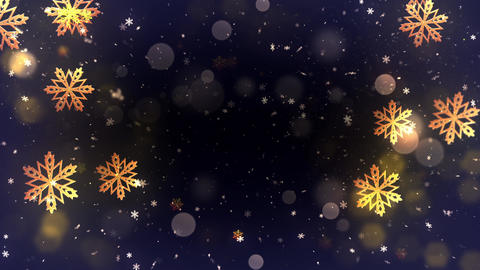 Winter Bokeh Background 05 Animation
