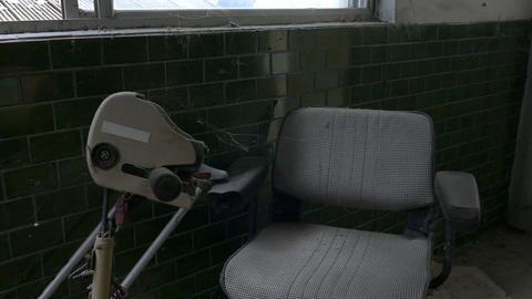 Motorized chair abandoned hospital Footage