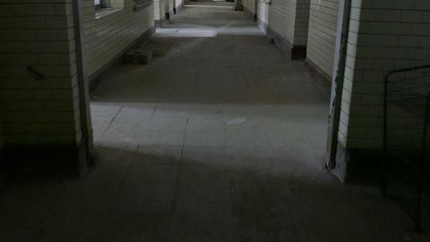 Travel through hallway of abandoned hospital 1 Footage