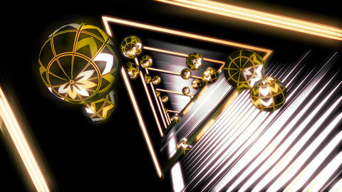 Looped seamless light tunnel for event, concert, presentation, music videos Animation