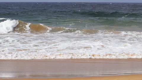 Visitor strolling along a popular beach in Hikkaduwa. Video 4k UltraHD Live Action