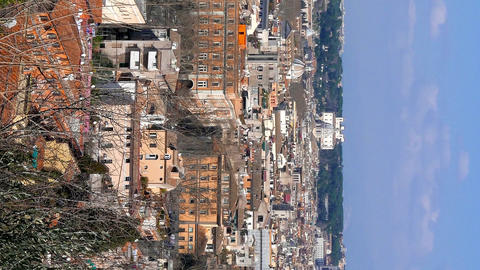 Vertical video. Panorama of Rome. View from Passeggiata del Gianikolo. Rome, Live Action