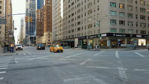 New York City, USA yellow taxi Footage