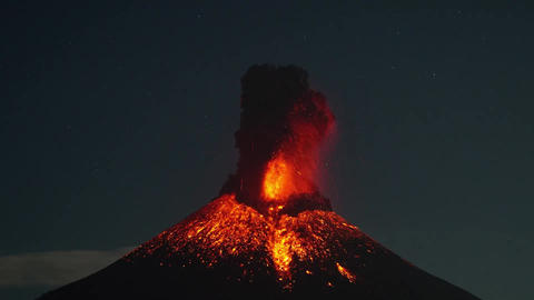 Powerful explosive activity from Momotombo volcano in Nicaragua Footage