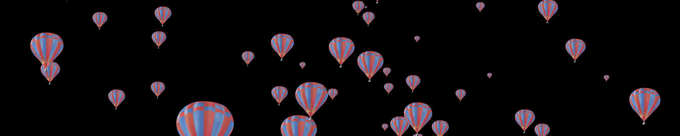 Floating ballon Horizontal Animation