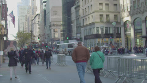 5th Avenue day and people slow motion New York Footage