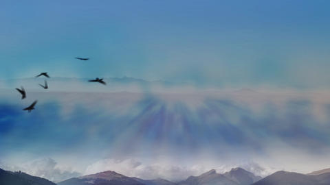 Above Cloud Mountain In Air HD2 Animation