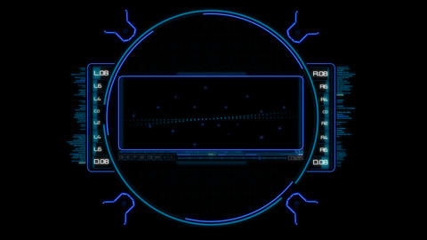 Glow Futuristic High Tech Display Scanner Hud Target with alpha channel. Good Animation