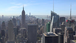 USA New York City Manhattan Top of the Rock view to Empire State Building Footage