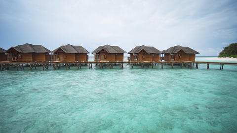 Exotic. Private Bungalows over the Water in the Maldives GIF