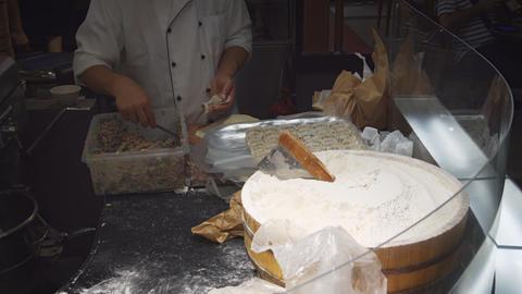 Chef Assembling Dumplings in a Singapore Restaurant Footage