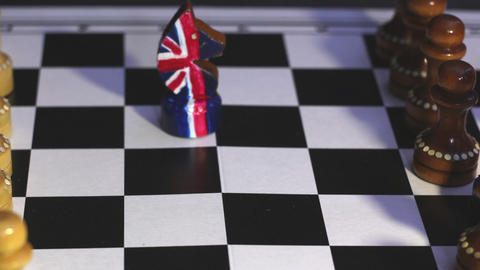 Brexit chess confrontation Animación
