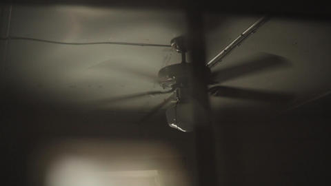 Retro Ceiling Fan On Ceiling ( Film Frame ) Footage