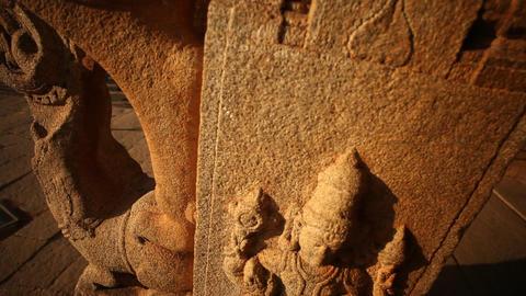 Art work on Temple Footage