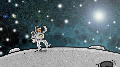 Astronaut on the Moon Animation
