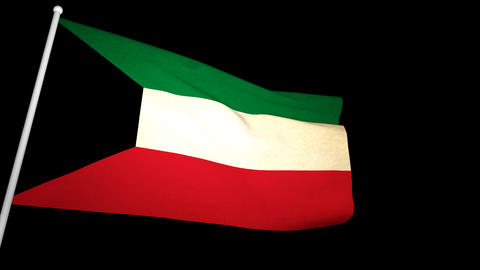 Flag Kuwait 01 Animation