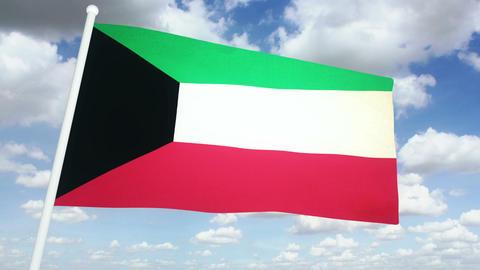 Flag Kuwait 02 Animation