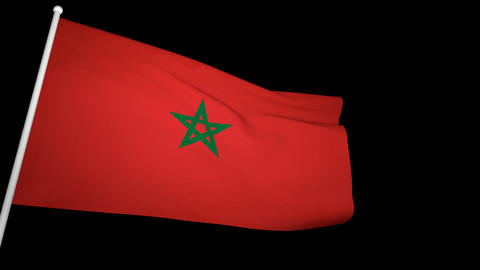 Flag Morocco 01 Animation