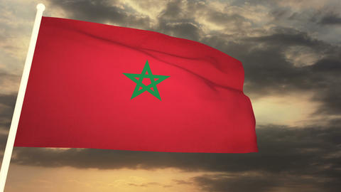 Flag Morocco 03 Animation