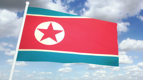 Flag North Korea 02 Animation