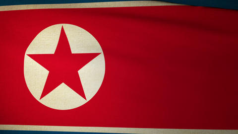 Flag North Korea 04 Animation