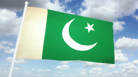 Flag Pakistan 02 Animation