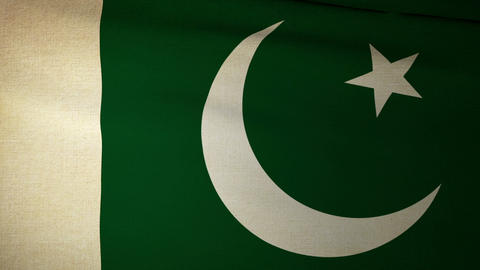 Flag Pakistan 04 Animation