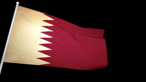 Flag Qatar 01 Animation