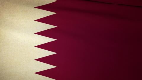 Flag Qatar 04 Animation