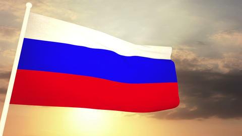 Flag Russia 03 CG動画素材