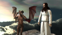 Bible, the temptation of Jesus, religion Animation